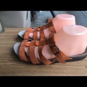 Sonoma Orange Strappy Slide On Sandals Size 11M